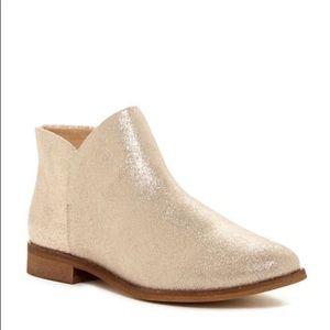 Splendid Gold/Champagne Booties size 6.5